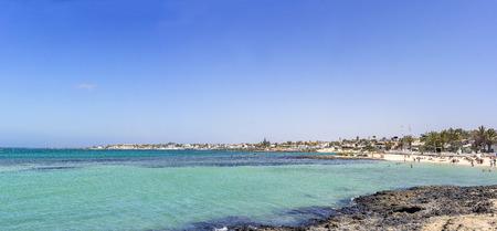 Town of Corralejo, Fuerteventura, Canary Islands, Spain, Europe, panorama