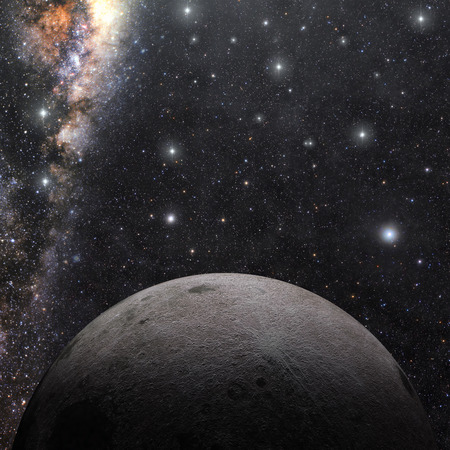 A computer graphic rendering of the Moon. 3D rendering. Stock Photo