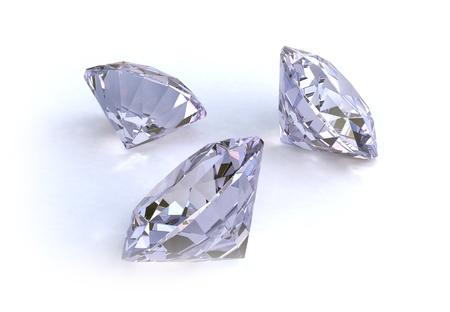3 shiny diamonds - C.G.I. made Stock Photo - 8866532