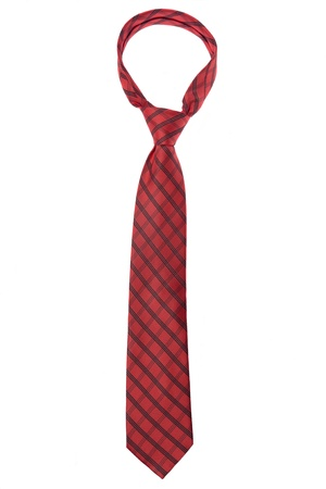 cross ties: red tie. isolated on white background Stock Photo