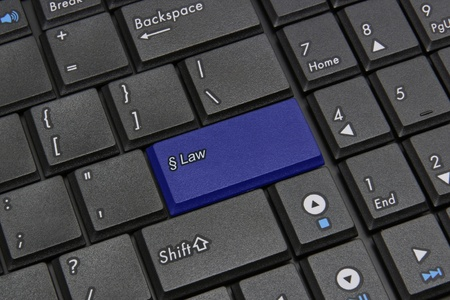 Blue law key closeup