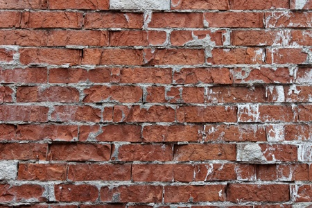 Old weathered brick wall fragment Stock Photo - 10627405