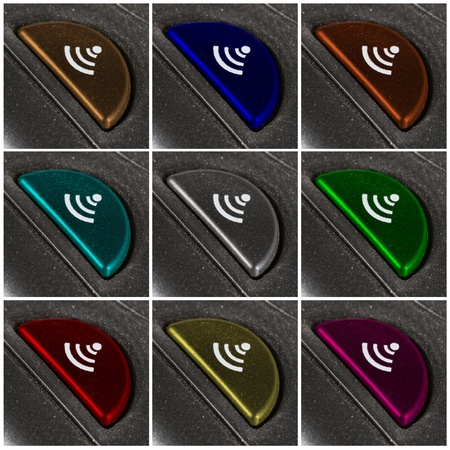 set of nine colorful connect buttons. Stock Photo - 11077583