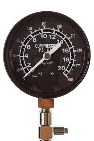 Manometer. Close-up. Isolated on white background.   Stock Photo - 13073879