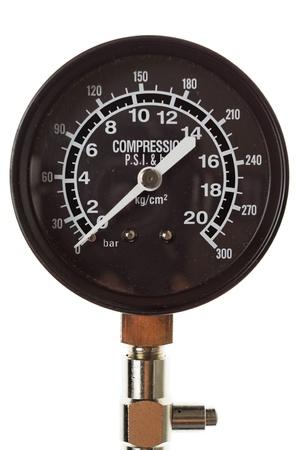 Manometer. Close-up. Isolated on white background. Stock Photo - 13073879