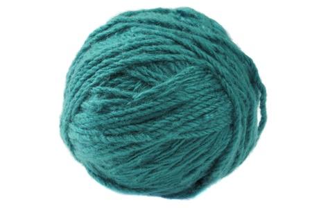 cadet blue: Ball of cadet  blue yarn isolated on white background Stock Photo