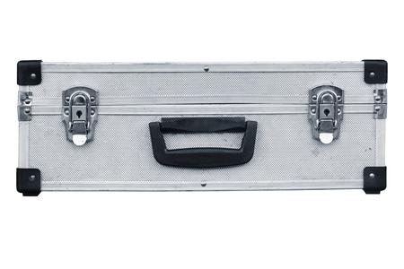 Used aluminum suitcase. Isolated white background. Stock Photo - 13691547