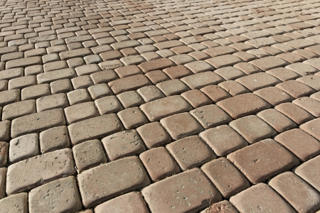 Beige pavement. background pattern.  photo