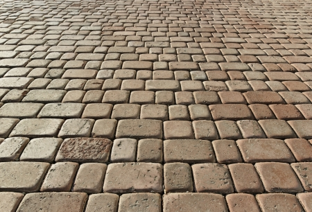 Beige pavement  Tilted impressive view  background pattern   photo