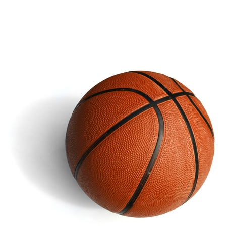 basketball isolated in white background photo