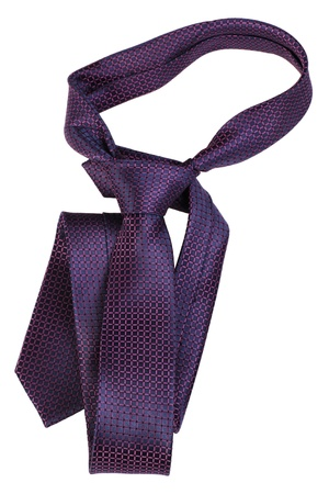 ironed: violet tie  isolated on white background