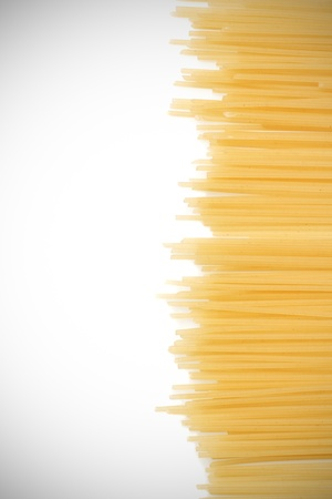 Uncooked Italian spaghetti. background photo