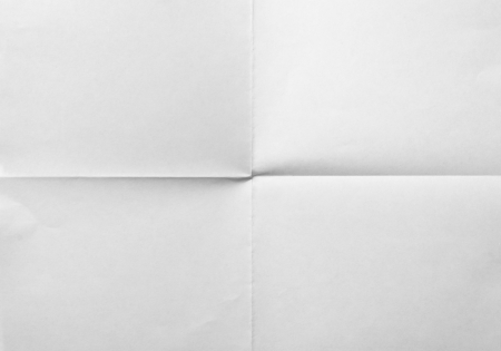white sheet of folded in four paper