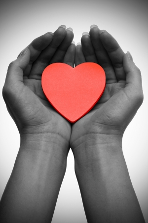 monocrome: one heart in two hands