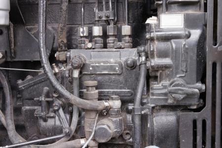 benzin: Tractor engine closeup Stock Photo
