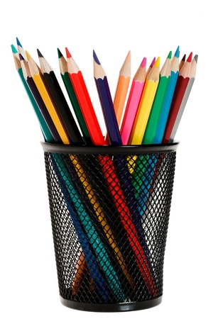 pencils in pencil holder photo
