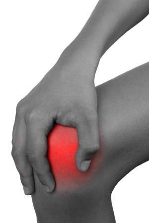 young boy having knee pain  photo