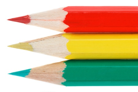 pensils: three color pensils Stock Photo