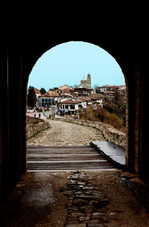 view of Veliko Tarnovo from Tzarevetz main door photo