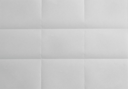 Folded on nine Blank Sheet of Paper