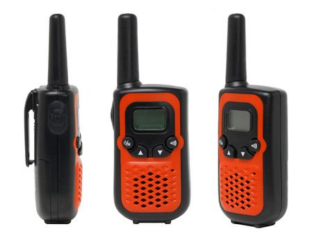 Three view of orange walkie talkie photo