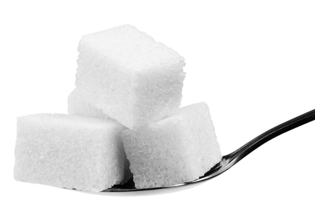 sugar cubes: sugar cubes. Isolated on white