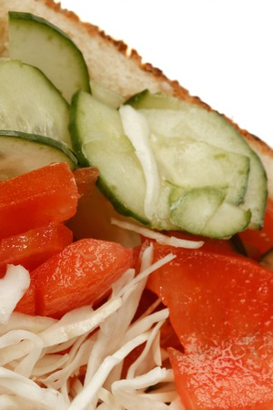 kebob: Vegetarian doner kebap sandwitch closeup Stock Photo