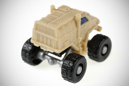 willis: Scale Model toy jeep. isolated on white background Stock Photo