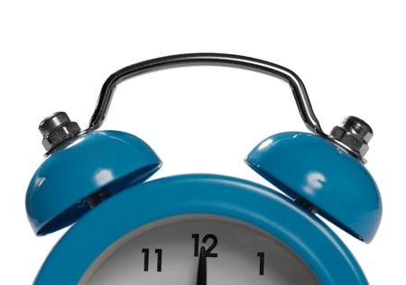 Alarm clock bells close-up over white.38 Megapixels photo