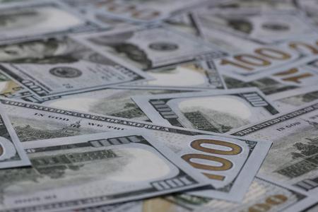 US One Hundred Dollar Banknotes Background