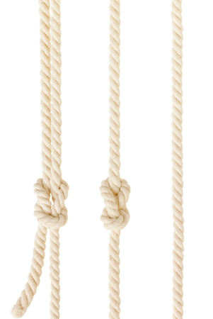 ship ropes with knot isolated