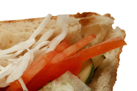 Vegetarian doner kebap sandwitch closeup Stock Photo