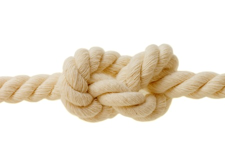 eight knot on white background