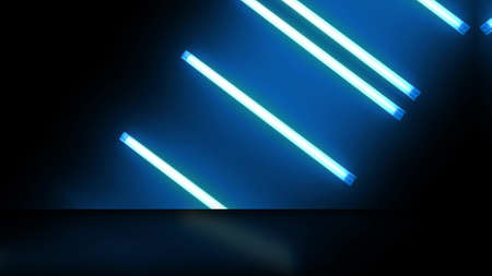 Neon lamps Bulb lights Stage screen wall.