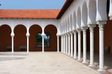 ralli: Yard and covered gallery of the Ralli museum of modern Latin American Art. Caesarea, Israel
