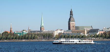 Riga, capital of Latvia Banco de Imagens