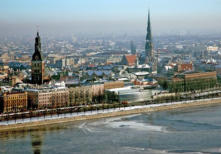 Riga, winter Banco de Imagens