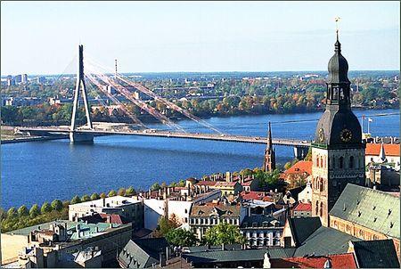 Riga, capital of Latvia Stock Photo
