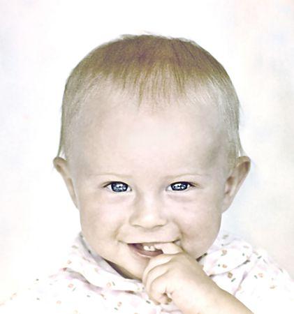 Portrait of the child Banco de Imagens