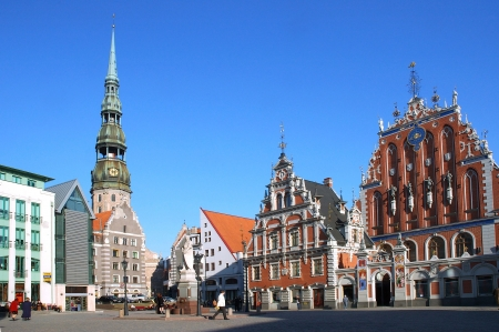 Riga, the town hall area photo
