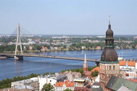 Panorama of Riga Banco de Imagens