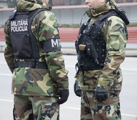Military police in the street cities