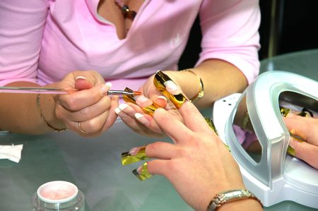 In a beauty shop Stock Photo