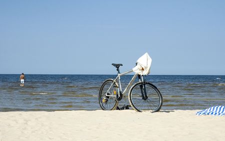 Beach in Jurmala Stock Photo