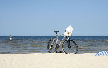 Beach in Jurmala Stock Photo
