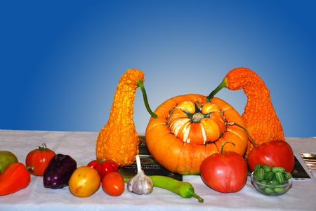 Vegetable composition from three different yellow pumpkins