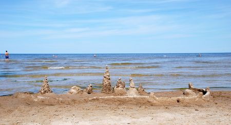 jurmala: Coast of gulf of Riga in Jurmala Stock Photo