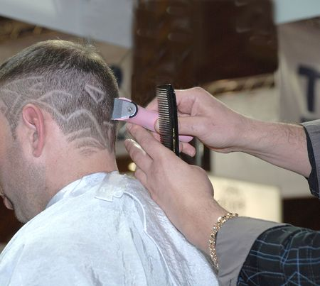 The Art hairstyle of hair in a hairdressing salon