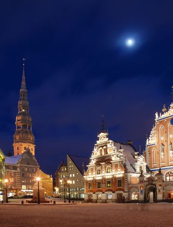 Riga, the town hall area