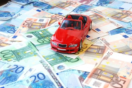 Money of euro for purchase of a car
